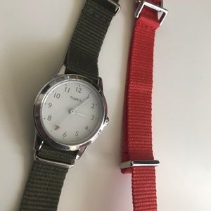 Time for J Crew Watch - with extra strap